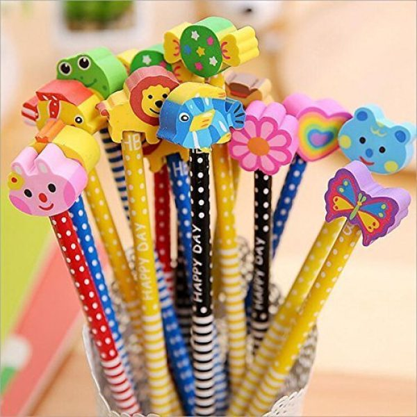 Pencils with Eraser for Kids for Birthday Party Gifts