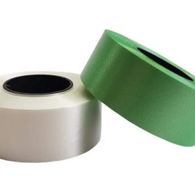 Curling Ribbon Green and White