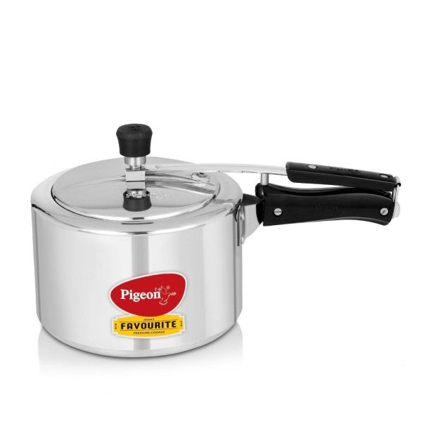 Pigeon by Stovekraft 12091 Favourite Aluminium Induction Base Pressure Cooker