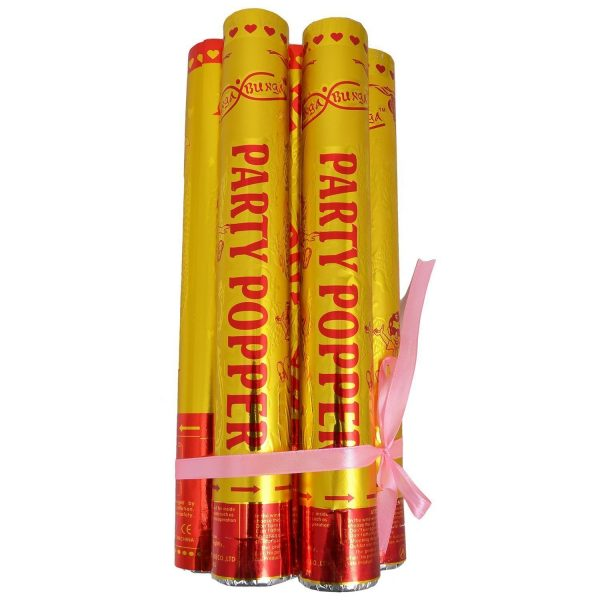 Golden Party Poppers