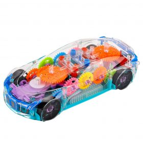 DishanKart Concept Musical and 3D Lights Kids Transparent Car, Toy for 2-5 Year Kids Baby Toy
